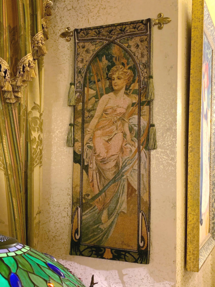Alphonse Mucha Times of the Day tapestry