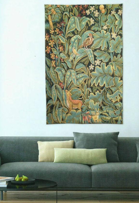 Aristoloches wall tapestry in a living room