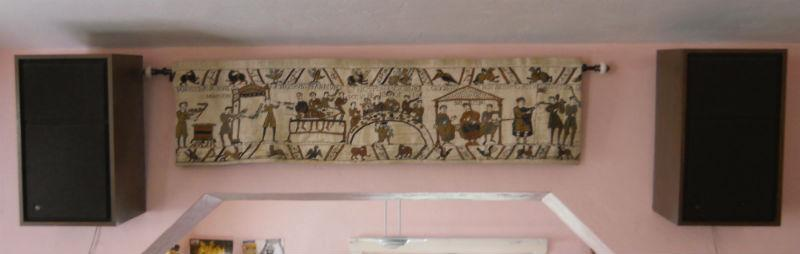 Banquet at Pevensey from the Bayeux Tapestry