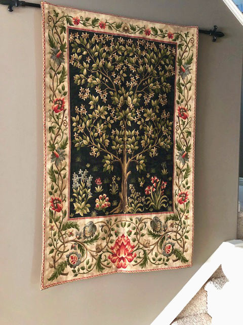William Morris tapestries - Black Tree of Life tapestry
