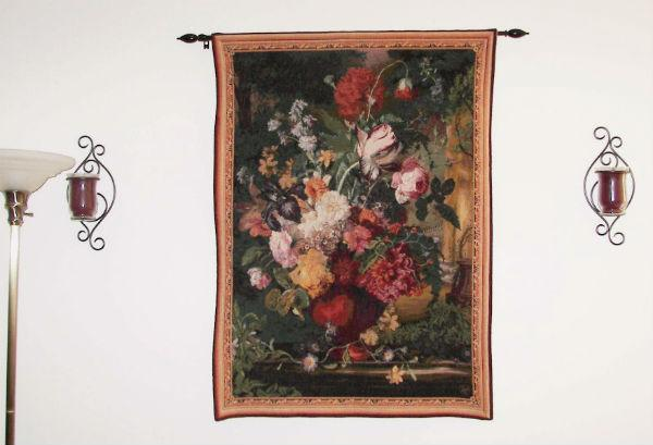 Bouquet Flamand tapestry- French wall hanging