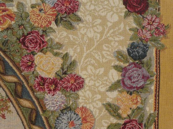Close-up detail of Fragonard The Swing tapestry