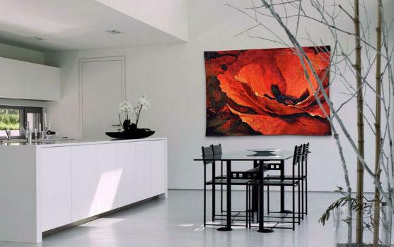 Contemporary tapestries - modern floral wall art