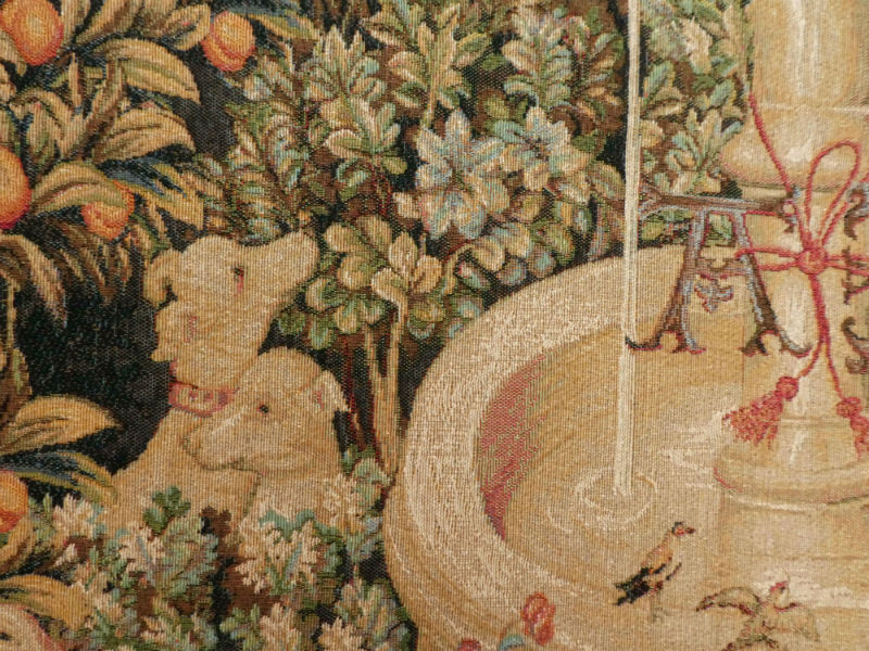 Detail of Licorne a la Fontaine tapestry