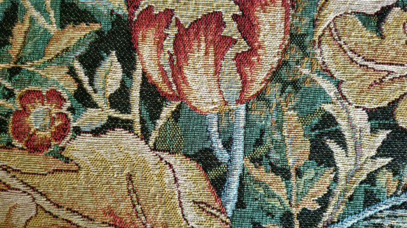 Detail of a William Morris portiere tapestry