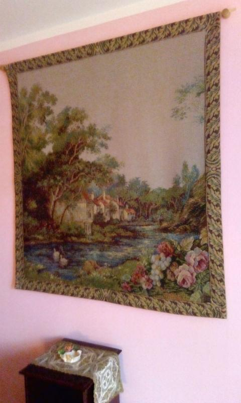 Ducks on the River tapestry hanging