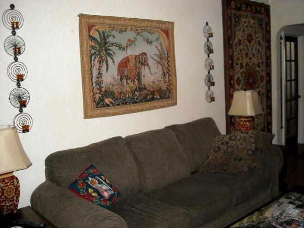 Royal Elephant tapestry - French wallhanging in a home