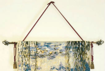 Hanging a tapestry with cords and tassels