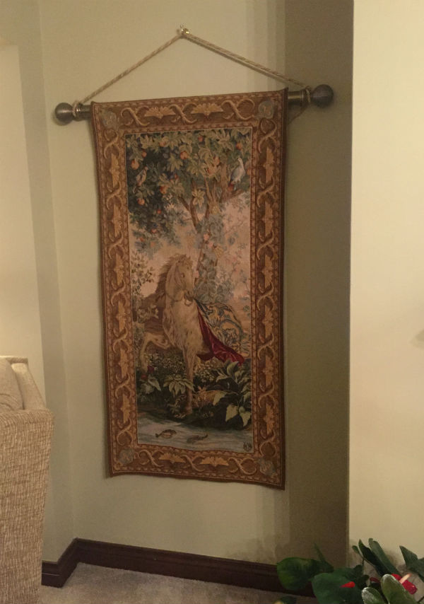 Horse tapestry woven in France