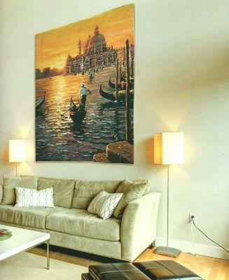Large vertical tapestry wall-hangings