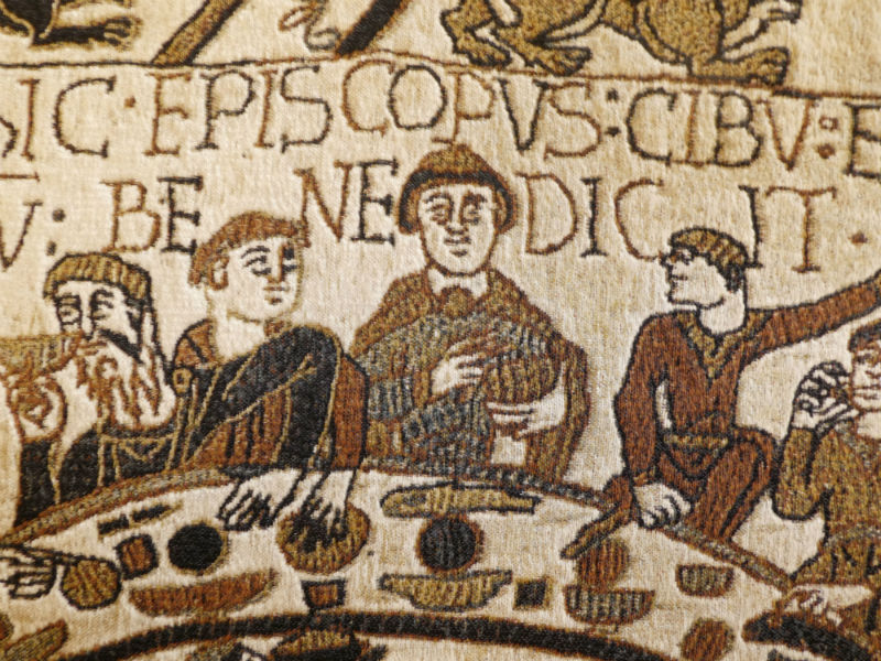 Odo Bishop of Bayeux blessing the meal