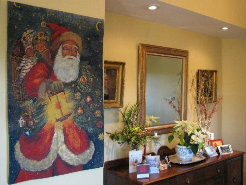Santa Claus tapestry - Father Christmas art
