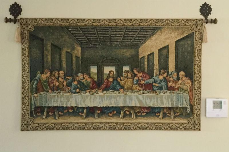 Ultima Cena Tapestry The Last Supper Wall Hanging