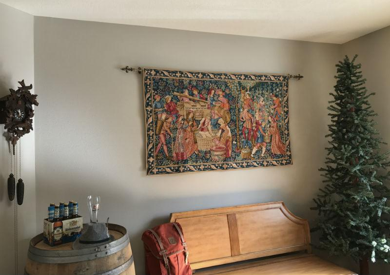 The Vintage - grapes harvest tapestry hanging
