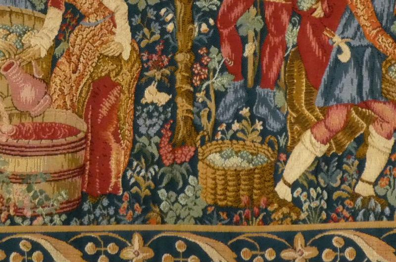 The Vintage tapestry close-up detail