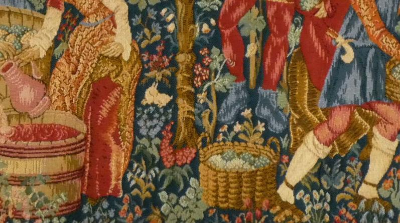 The Vintage tapestry hanging detail