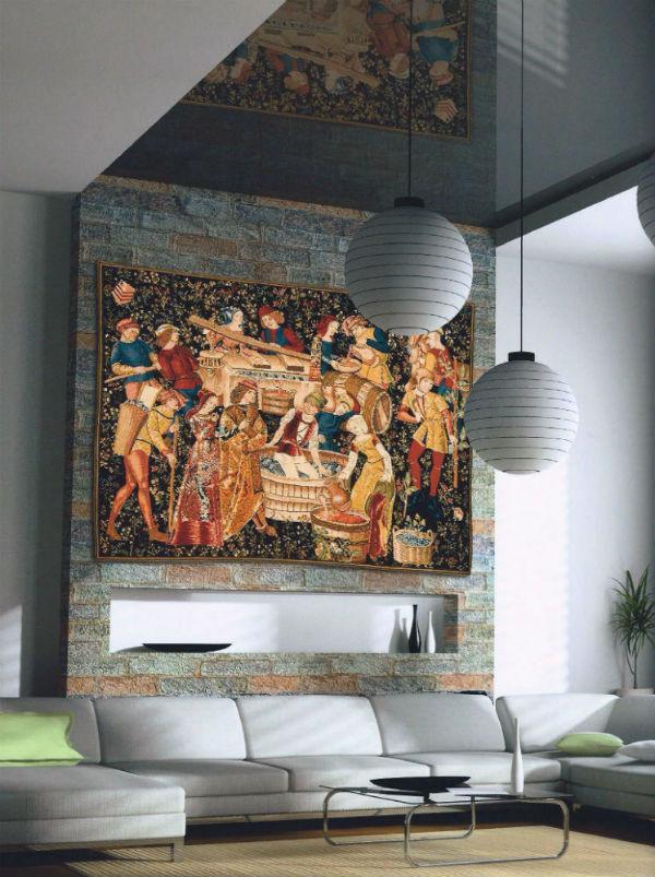 The Grape Harvest Vendange Tapestry Wall Hangings