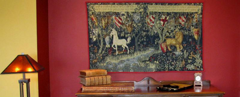 William Morris & Co tapestries - Quest for the Holy Grail