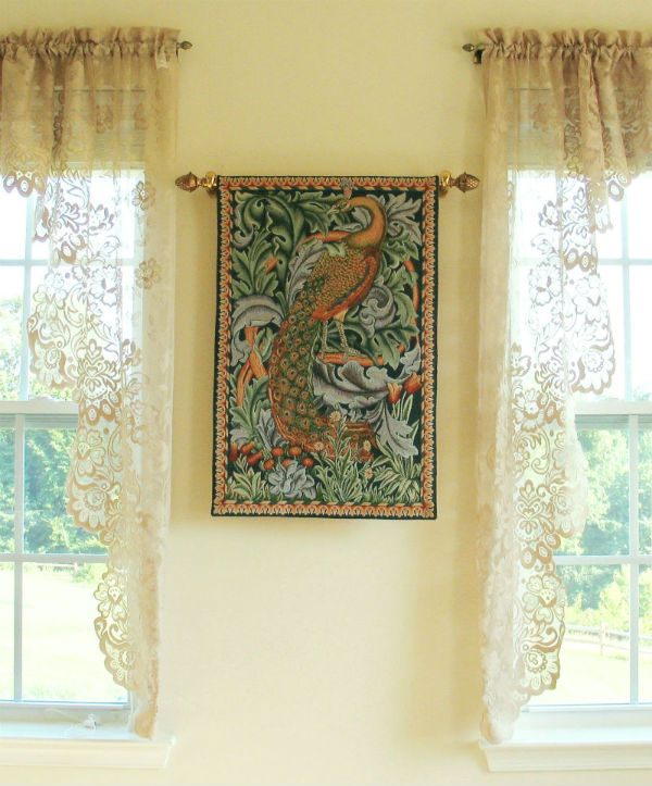 William Morris Peacock tapestry - The Forest wall-hanging