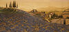 Blue Poppies in Tuscany tapestry