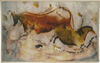 Cow and Horse tapestry - lascaux cave tapestries