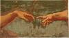 Michelangelo's Creation - religious art tapestry