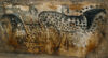 Hands and Horses tapestry - cave paintings art