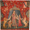 A Mon Seul Desir square tapestry