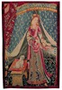 A Mon Seul Desir tapestry - Lady and her Dog