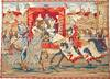 The Tournament - jousting wall tapestry