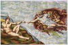 Michelangelo Creation tapestry - on sale