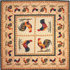 Two Roosters throw, tablecloth